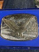 Great American Eagle Belt Buckle Numbered Made In Hong Kong