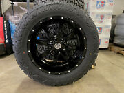 20x10 Black A2 Offroad Mo970 Wheels 33 Amp At Tires 8x170 Ford Excursion F350
