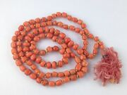 Natural Old Coral Beads Necklace , Jewelry 167 Ct 33.400 Grm