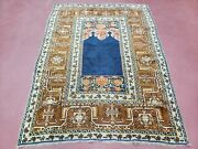 Antique Turkish Anatolian Ghiordes Prayer Rug Twin Mihrabs Rare 1920s 3and0399 X 5and0392