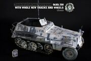 1/6 Scale Go Truck Wwii German Sdkfz 250 Rare All Metal With New Tracks And Wheels