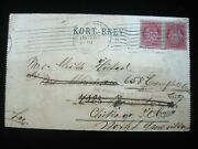 Postal Cover Norway 1905 Norge 10 Ore To Chicago Il Fold Card Mail Stamp