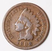 1888 Indian Head Penny One Cent 1c Uncertified Better Date,