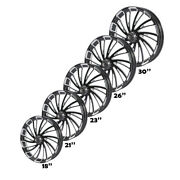 18/21/23/26/30and039and039 Wheel Rim Single/dual Disc Hub Fit For Harley Road Glide 08-21