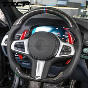 Real Carbon Fiber/leather Car Steering Wheel For Bmw G20 G21 3 Series M Sport