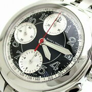 Baume And Mercier Capeland Chrono Moa08317 Used Watch Menand039s Auto Blk Dial Ltd Ec