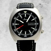 Sinn 240.st Ss Leather Automatic Stainless Steel Black Dial Watch