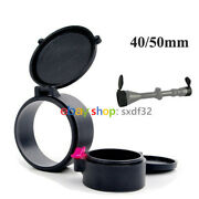 Front/rear Rubber Scope Lens Covers For 40/50mm Objective Lens Dustproof Cap