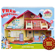 Bluey's Family Home Bluey Blue Heeler Dog House Playset Pack And Go Girls Toy Gift