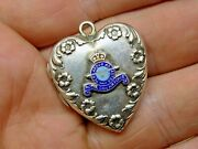 Rare Wwii World War 2 Solid Silver Royal Can Air Force Sweetheart Pendant Locket