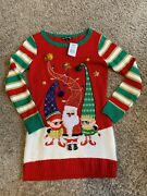 United States Sweaters Santa And Elves Ugly Christmas Sweater Womenand039s Small