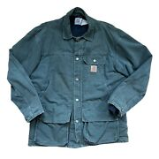 Vintage Chore Duck Jacket Mens Large Cq5566 Arctic Quilt Lined Green