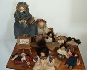 Large Lot Lizzie High Dolls And Accessories Little Ones Benches Baskets Cats