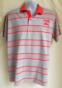 Rare Vintage Sonic Americaand039s Drive In Uniform Employee Gray Red Striped Polo 2xl