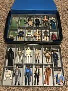Star Wars Vintage Lot Collectors Case With Figures Rare
