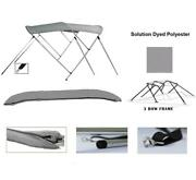 3-bow Aluminum Bimini Top Compatible With Blue Water Mirage Skier I/o 1993