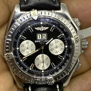 Breitling Menand039s Watch Crosswind Special A44355 Automatic Black Dial Big Date