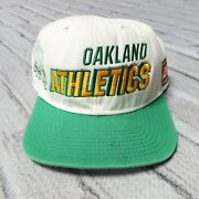 Vintage Rare 90s Oakland Athletics A's Shadow Snapback Hat By Nike Cap