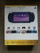 Sony Psp-3000 Launch Edition 64mb Piano Black Handheld System New Factory Sealed