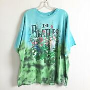 Awesome Vintage 1998 Awesome Beatles Garden 2-sided Tie-dye Print Size Xl