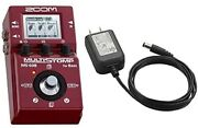 Zoom Ms-60b Multi Stomp For Bass + Ac Adapter Ad-16 Set