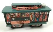 Vintage Litho Tin Toy San Francisco Cable Car Powell And Mason Sts 514 Market St