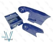For Indian Chief Post War Model Lapis Blue Painted Steel Mudguard Fender Set New