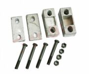Engine Rear Support Cross Member Upper And Lower Wedge+bolts For Willys Jeeps S2u