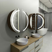 Round Led Cabinet With Mirrors Diana For Bathroom   80cm