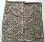 Restoration Hardware Chenille Baroque Print Pillow Cover Spruce Green 18x18