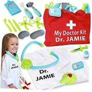 Personalized Toy Doctor Kit For Kids Realistic Doctor Play Set Include Bag