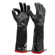 Heat Resistant Bbq Gloves, Long Sleeve Grill Gloves, Textured Extra Large 18