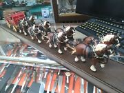 Budweiser Champion Clydesdale Team 8-horse Hitch W/ Wagon - Local Pickup Only