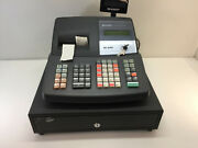 Sharp Xe-a406 Electronics Cash Register With One Power Key - Black
