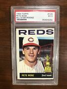 1964 Topps Pete Rose Psa 5 Ex Mint All Star Rookie 125 Iconic 1st Solo Card