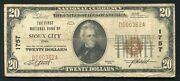 1929 20 The First National Bank Of Sioux City, Ia National Currency Ch. 1757