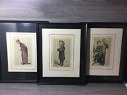 Petrolagar Lot Caricature Prints Huxley Curie Paget Scientists Framed