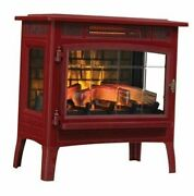 3d Infrared Electric Fireplace Stove With Remote Control, Cinnamon - Dfi-5010