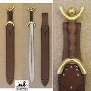 Hanwei Cas New Celtic Sword And Leather Sheath Hand Forged High Carbon Steel Blade