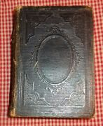 Vintage Antique Old 1870 Leather Bound Holy Bible Embossed Cover New York Societ
