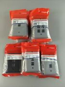 Lot Of 23 Legrand Switch Plates Wall Plates Black And Gray Brand New
