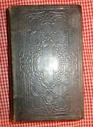 Vintage Antique Old 1873 Leather Bound German And English Embossed Bible Testament