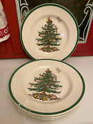 Set Lot 8 Spode China Christmas Tree 10 3/4 Dinner Plate Made In England