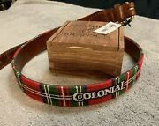 Rare Colonial Country Club Belt - Size 38 Tartan Smathers And Branson W/ Box Nwt