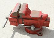 Vintage Columbian D43 1/2 Swivel Bench Vise -made In Usa