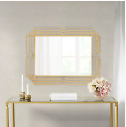 Gold Ribbon Style Decor Mirror Vintage One Of A Kind