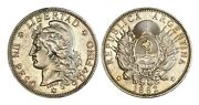 C494, Argentina, 1 Peso 1882, Silver, Nice Grade But Was Mounted