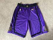 Lakers Shorts Team Issued City Edition Purple Magic Size 38+2 Pro Cut New Nike