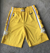 Lakers Shorts City Edition 2020 Pro Cut Team Issued Sz 38+2 Authentic Nike