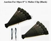 10 X Tactical Tailor - Short 8 Black Malice Clips For Gerber,buck Knife Pouch